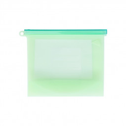 500ml Eco Friendly Reusable Bag Silicone Food Storage Bag Kitchen Fresh-keeping Sealed Bag Food Carry Bag - Green