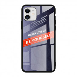 TPU Soft Edge Gradient Glass Back Case Smooth Shockproof Protective Phone Cover for iPhone 11 - CP-01