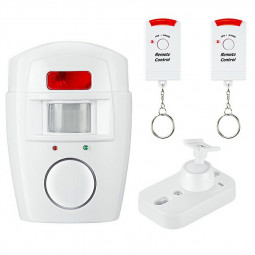 Door Alarm System Security System Motion Detector Sensor Wireless 105 dB Siren Infrared Remote Control Alarm
