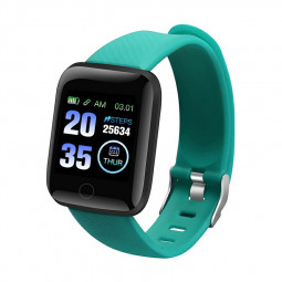 116plus Smart Watch Color Screen Sport Monitor Measure Heart Rate Blood Pressure Blood Oxygen Bluetooth Watch - Green