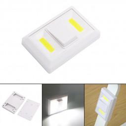 Led Adhesive Light Battery Power Operation Magnet Holder Furniture Lamp Night Light COB Toggle Light