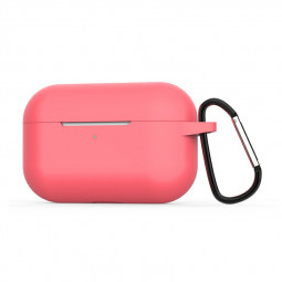 Super Soft Silicone Protective Case Cover Portable Wireless Bluetooth Earphone for Apple AirPods Pro - Pink