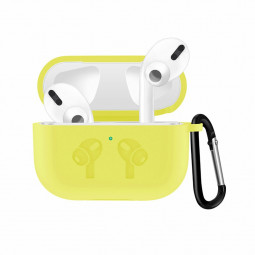 Thickened Wireless Bluetooth Earphone very Soft Silicone Protective Case Cover for Apple AirPods 3 - Yellow