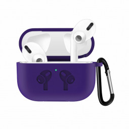 Thickened Wireless Bluetooth Earphone very Soft Silicone Protective Case Cover for Apple AirPods 3 - Purple