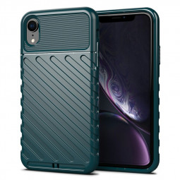 Ultra Slim Mobile Phone Back Cover Shockproof Anti-drops Phone Case Soft Silicone for iPhone XR - Green