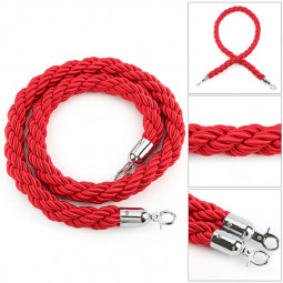 1.5m High Quality Barrier Rope Queue Twisted VIP Red Rope for Posts Stands - Red