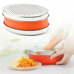 Oval Box Vegetables Stainless Steel Fruits Grater Cheese Grater with Container Slicer
