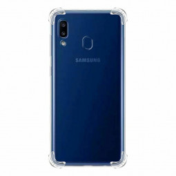 Shockproof Clear Soft Fitted Cases Transparent Silicone Phone Back Cover for Samsung Galaxy A30