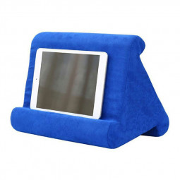 Multi-Angle Soft Pillow Lap Stand for iPad Tablet EReaders Magazine Holder Pillow Pad - Sapphire Blue