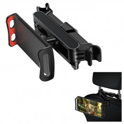 CHZ-06 Snap-on 360 Degree Rotating Car Rear Seat Bracket for Phone Tablet Telescopic Holder - Red.
