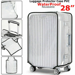 Waterproof PVC Suitcase Protector Case Cover Anti Scratch Clear Cover Fit for 28 inches Suitcase