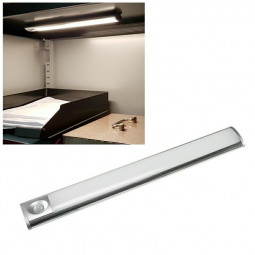 24cm Cabinet Kitchen Induction Light Strip USB Charging LED Lamp Sensor Light Magnetic Holder - White Light