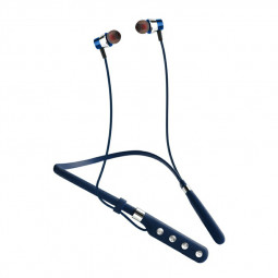 G1 Bluetooth 5.0 Dual Stereo Multipoint Connection Neckband Subwoofer Headphones Earphones - Blue