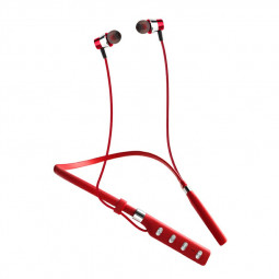 G2 Bluetooth 5.0 Neckband Subwoofer Headphones Dual Stereo Multipoint Connection Earphones - Red
