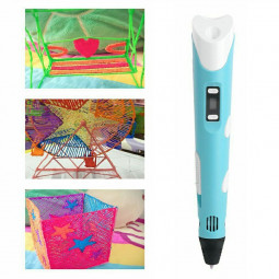 EU 3D Pen Printer Stereoscopic Printing Pen 3D Pen Set for Children with 1.75mm PLA - Blue