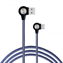 1m Nylon Braided Durable Charging Cable Type C USB 3.1 Quick Charger Cable - Blue