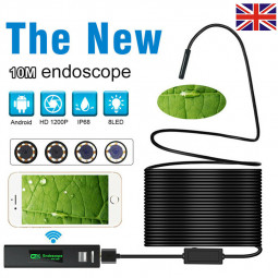 10M Long Endoscope Waterproof IP68 USB WiFi Inspection Camera Tube Camera Fit for PC Android Phones