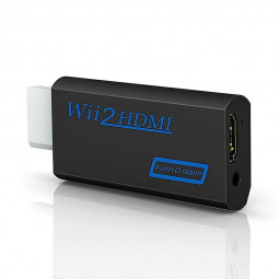 Wii to HDMI converter Output Video Adapter with 3.5 mm Audio Jack Support all Wii Display Modes for Nintendo - Black