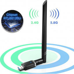 1300Mbps USB 3.0 Wireless WiFi Adapter Dual Band 5GHz 802.11 AC WiFi Dongle