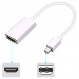 MINI DP to HDMI Adapter Display Port Male to HDMI Female Adapter Converter Cable for HDTV Projector