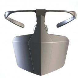 Protective Face Shield Filter Mask Anti-droplets Anti-splash Dust Reusable Isolation Mask - Black