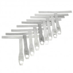 9 pcs/Set T-shaped Guitar Caliper Ruler String Radius Curve Gauge Ruler Guitar Tool
