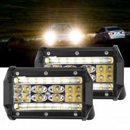 2pcs 84W LED Work Fog Light 5 Inch 20000LM Car Truck Jeep SUV Spot Flood Bar Lamp
