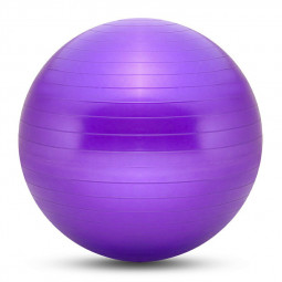 75cm Sports Fitness Yoga Ball Fitball Pilates Balance Gym Exercise Yoga Ball with Inflator - Purple