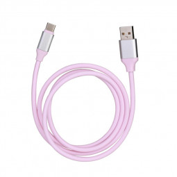 USB Type C Cable Soft Cable USB C 3.1 for Huawei P30 Samsung Charger Wire - Pink