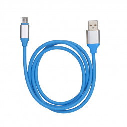 Samsung Huawei Cable Soft Cable Micro USB Android Charger Wire - Blue