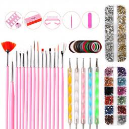 37 pcs Nail Art Decorations Set Beauty Manicure Tools Professional Painting Manicure Tools Kit - 1