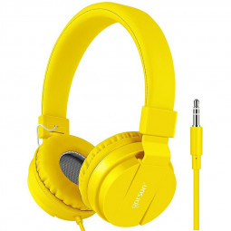 GS-778 Lightweight Stereo Foldable Wired Headphones Headset - Yellow