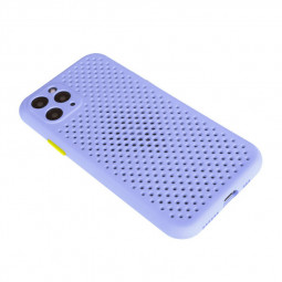 Soft Silicon Protective Back Case with Cooling Mesh for iPhone 11 Pro - Purple