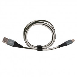 1m Type C USB 3.1 Braided Charging and Data Transfer Cable - Green
