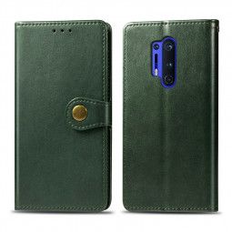 Magnetic PU Leather Wallet Case Cover for OnePlus 8 Pro - Green