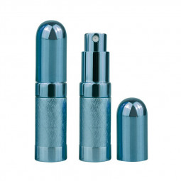 6ml Mini Portable Travel Refillable Metal Perfume Liquid Atomizer Bottle - Blue