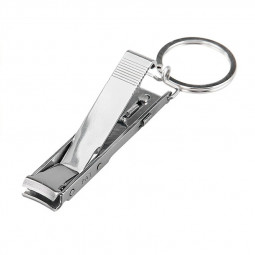 Stainless Steel Keychain with Ultra-thin Foldable Hand Toe Nail Clipper Slim Clips