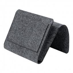 Felt Bedside Storage Bag with Pockets Bedside Caddy Organizer Hanging Storage - Dark Grey