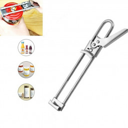 Stainless Steel bottle Opener Adjustable Can Opener Jam Bottle Opener Gadget