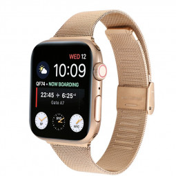 42mm/44mm Wristband Loop Replacement Band for iWatch Series 5/4/3/2/1 - Rose Gold