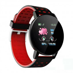119plus Bluetooth Smart Watch Heart Rate Tracker Fitness Smartwatch - Red