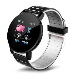 119plus Bluetooth Smart Watch Heart Rate Tracker Fitness Smartwatch - Black
