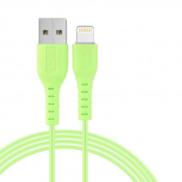 1M iPhone New Style Candy Colour 8pin Charging Cable - Green