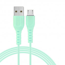 1M Android New Style Candy Colour Micro USB Charging Cable - Blue