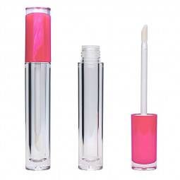 5ml Empty Lip Gloss Containers Tubes with Brush Wand - Pink