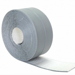 Caulk Tape Strip Bathroom Kitchen Self Adhesive Sealant Tape Edge Sink Wall - Grey