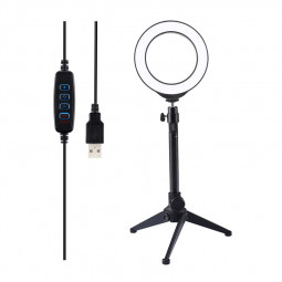 4.7 inch LED Ring Light with Tripod Stand Adjustable Brightness with Tripod Ball Head