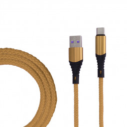 1m Fabric Braided Type C USB 3.1 Charge Cable Durable USB C Charger Cable - Gold