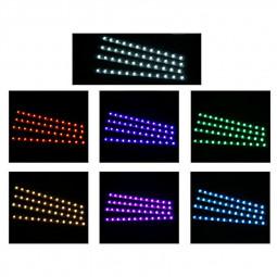 4 pcs RGB Car Interior Atmosphere Footwell Strip Light USB Charger Decor Lamp