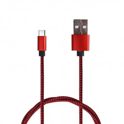 3M Fabric Braided Micro USB Android Charger Cable - Red